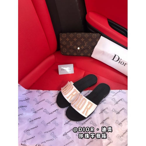 Christian Dior Slippers For Women #868425 $56.00 USD, Wholesale Replica Christian Dior Slippers