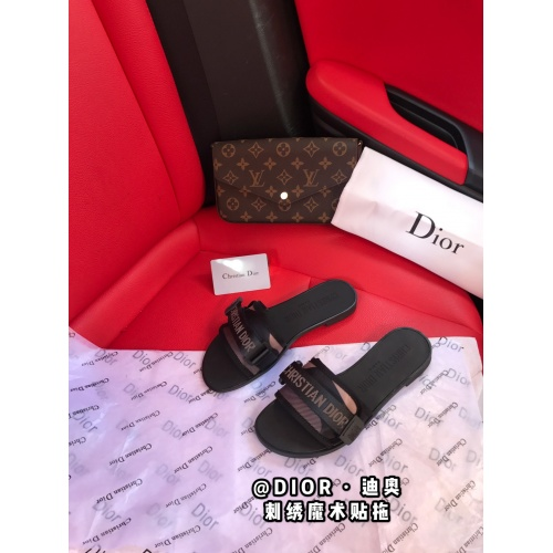 Christian Dior Slippers For Women #868426 $52.00 USD, Wholesale Replica Christian Dior Slippers