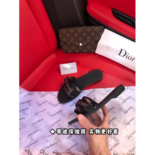 Replica Christian Dior Slippers For Women #868426 $52.00 USD for Wholesale