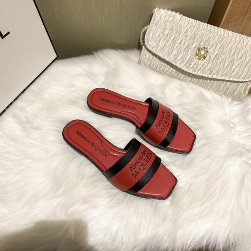 Alexander McQueen Slippers For Women #868440 $52.00 USD, Wholesale Replica Alexander McQueen Slippers