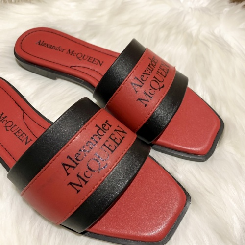 Replica Alexander McQueen Slippers For Women #868440 $52.00 USD for Wholesale