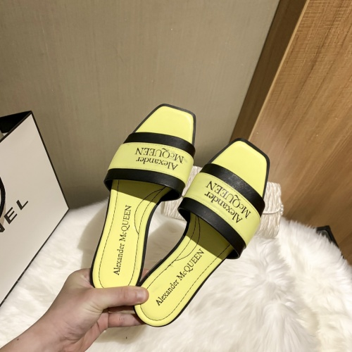 Replica Alexander McQueen Slippers For Women #868441 $52.00 USD for Wholesale