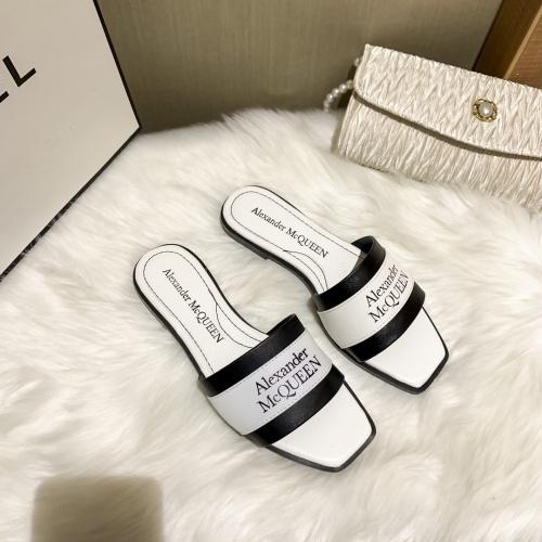 Alexander McQueen Slippers For Women #868442 $52.00 USD, Wholesale Replica Alexander McQueen Slippers