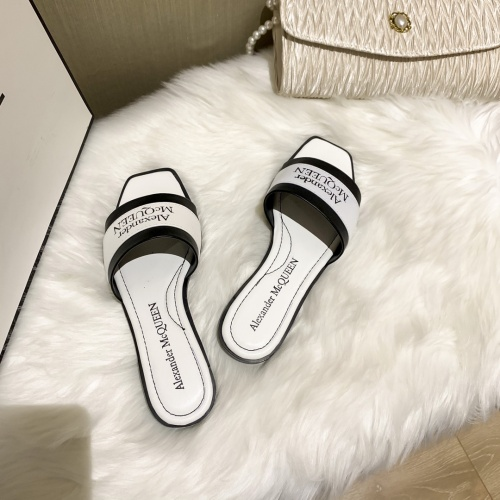 Replica Alexander McQueen Slippers For Women #868442 $52.00 USD for Wholesale