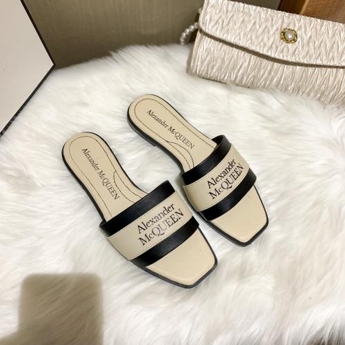 Alexander McQueen Slippers For Women #868443 $52.00 USD, Wholesale Replica Alexander McQueen Slippers