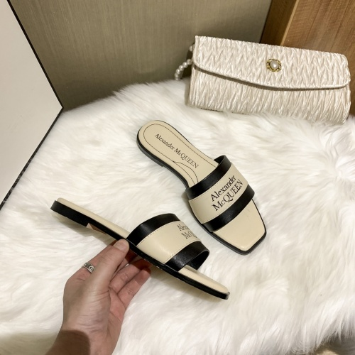 Replica Alexander McQueen Slippers For Women #868443 $52.00 USD for Wholesale