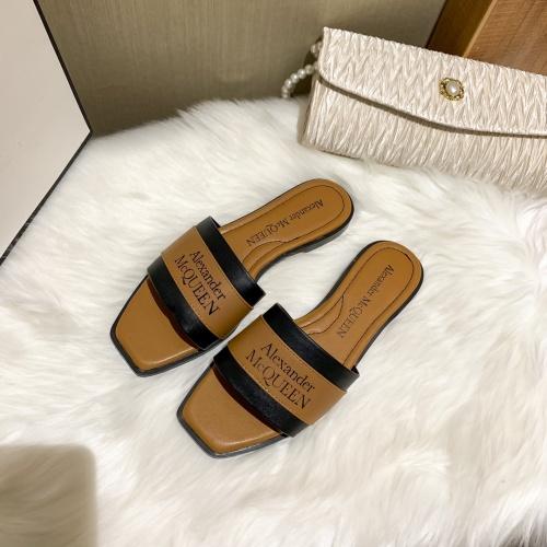Alexander McQueen Slippers For Women #868444 $52.00 USD, Wholesale Replica Alexander McQueen Slippers