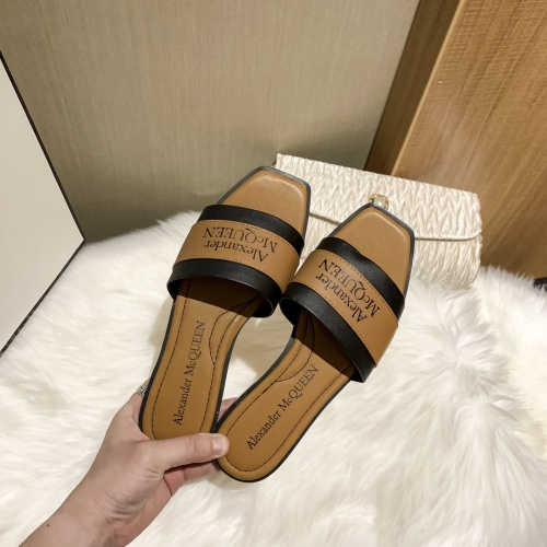 Replica Alexander McQueen Slippers For Women #868444 $52.00 USD for Wholesale