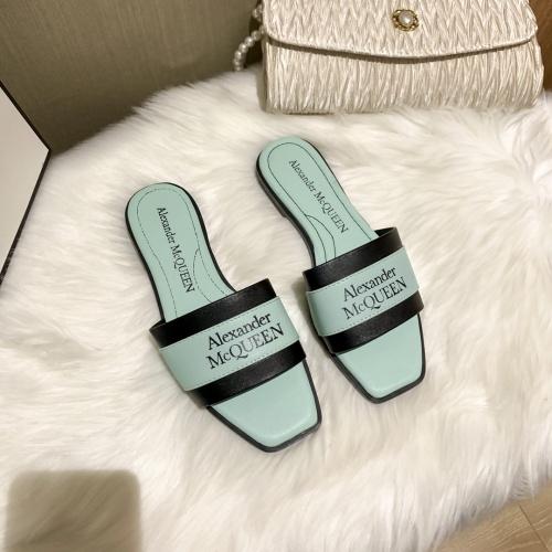 Alexander McQueen Slippers For Women #868445 $52.00 USD, Wholesale Replica Alexander McQueen Slippers