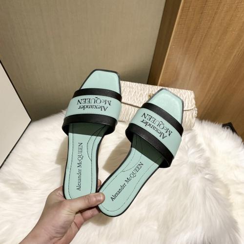 Replica Alexander McQueen Slippers For Women #868445 $52.00 USD for Wholesale