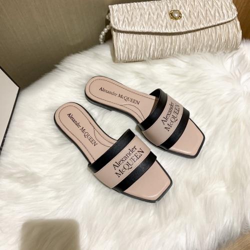 Alexander McQueen Slippers For Women #868446 $52.00 USD, Wholesale Replica Alexander McQueen Slippers