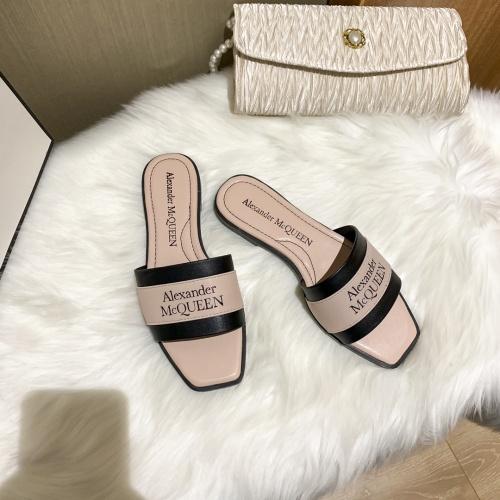 Replica Alexander McQueen Slippers For Women #868446 $52.00 USD for Wholesale