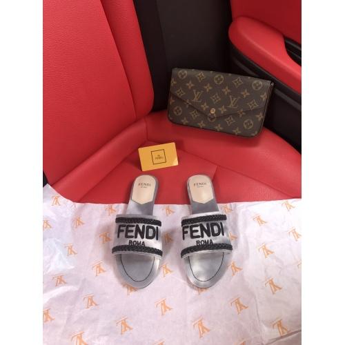 Replica Fendi Slippers For Women #868448 $52.00 USD for Wholesale