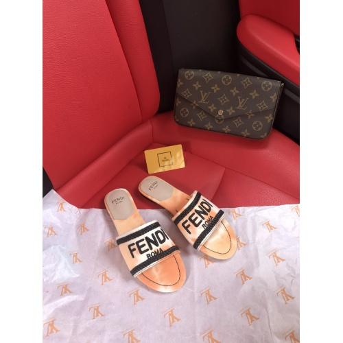Fendi Slippers For Women #868449 $52.00 USD, Wholesale Replica Fendi Slippers
