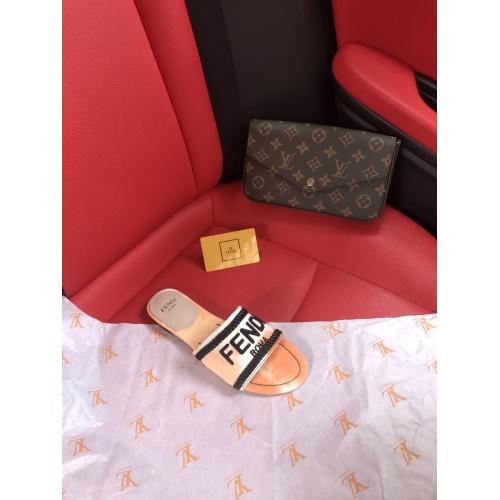 Replica Fendi Slippers For Women #868449 $52.00 USD for Wholesale