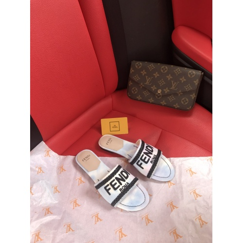 Fendi Slippers For Women #868450 $52.00 USD, Wholesale Replica Fendi Slippers