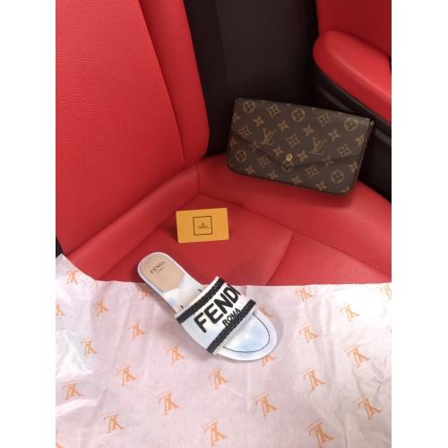 Replica Fendi Slippers For Women #868450 $52.00 USD for Wholesale