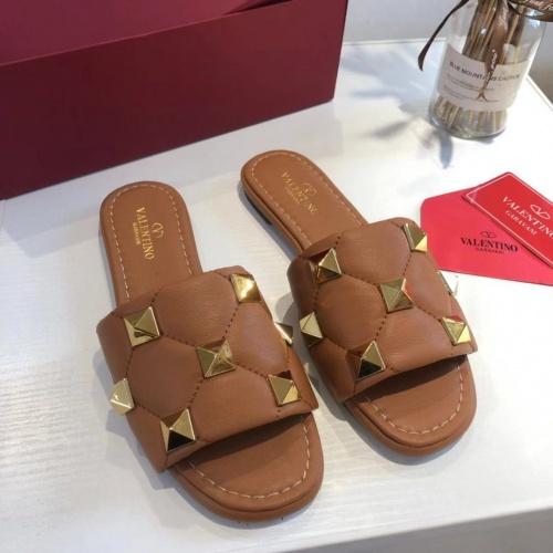 Valentino Slippers For Women #868469 $52.00 USD, Wholesale Replica Valentino Slippers