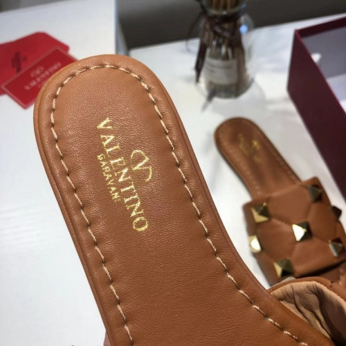 Replica Valentino Slippers For Women #868469 $52.00 USD for Wholesale