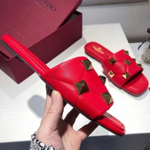 Replica Valentino Slippers For Women #868470 $52.00 USD for Wholesale
