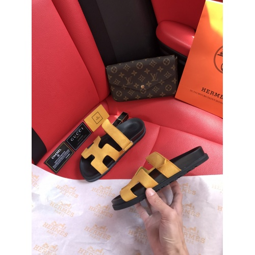 Replica Hermes Slippers For Women #868482 $60.00 USD for Wholesale