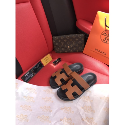 Hermes Slippers For Women #868483 $60.00 USD, Wholesale Replica Hermes Slippers