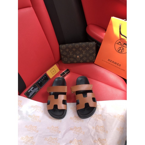Replica Hermes Slippers For Women #868483 $60.00 USD for Wholesale