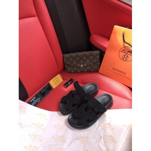 Hermes Slippers For Women #868484 $60.00 USD, Wholesale Replica Hermes Slippers