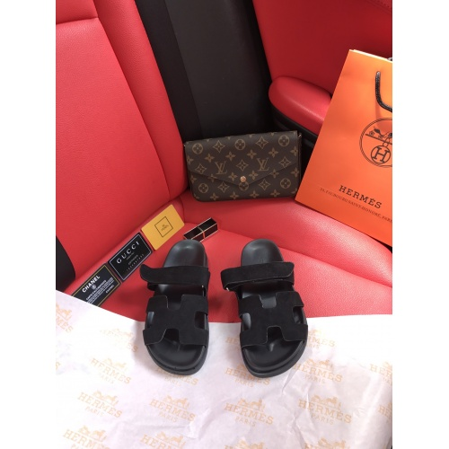 Replica Hermes Slippers For Women #868484 $60.00 USD for Wholesale