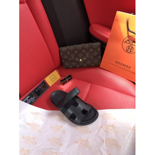 Replica Hermes Slippers For Women #868485 $60.00 USD for Wholesale