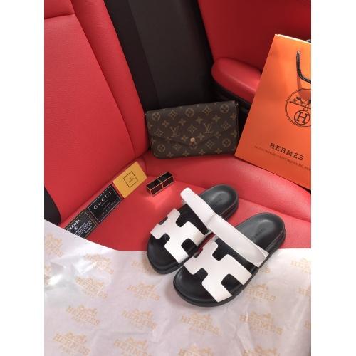 Hermes Slippers For Women #868486 $60.00 USD, Wholesale Replica Hermes Slippers