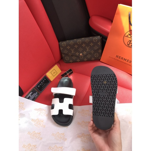 Replica Hermes Slippers For Women #868486 $60.00 USD for Wholesale