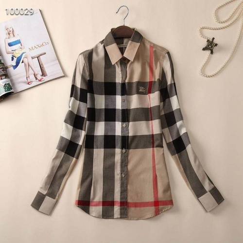 Burberry Shirts Long Sleeved For Women #869106