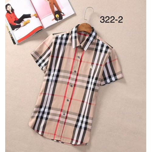 Burberry Shirts Short Sleeved For Women #869259