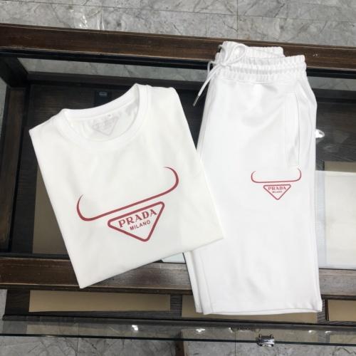 Prada Tracksuits Short Sleeved For Men #869813