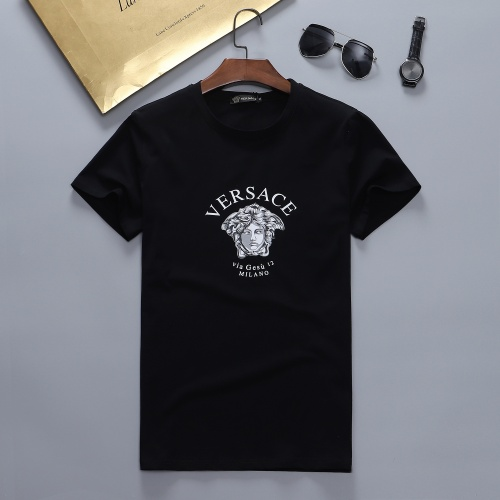 Versace T-Shirts Short Sleeved For Men #870417 $27.00 USD, Wholesale Replica Versace T-Shirts