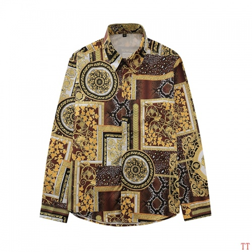 Versace Shirts Long Sleeved For Men #870909