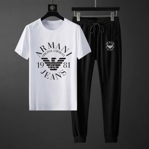 Armani Tracksuits Short Sleeved For Men #871121