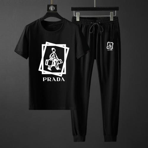 Prada Tracksuits Short Sleeved For Men #871128