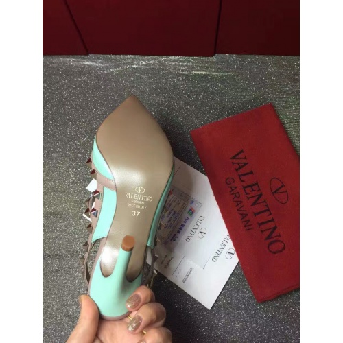 Replica Valentino High-Heeled Shoes For Women #871441 $85.00 USD for Wholesale