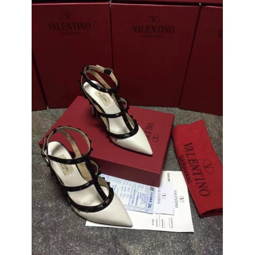 Replica Valentino High-Heeled Shoes For Women #871442 $85.00 USD for Wholesale