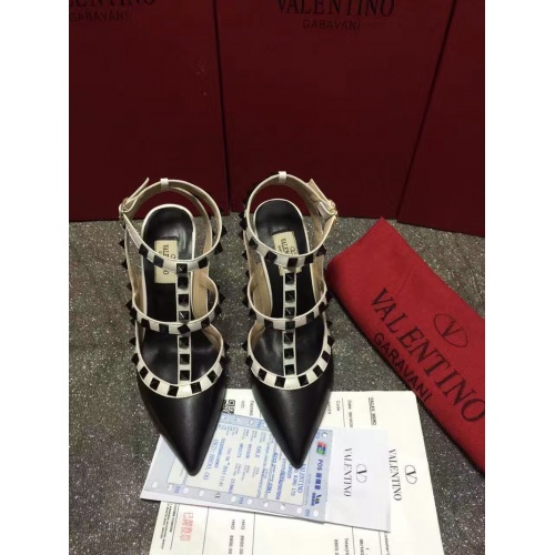 Valentino High-Heeled Shoes For Women #871443 $85.00 USD, Wholesale Replica Valentino High-Heeled Shoes
