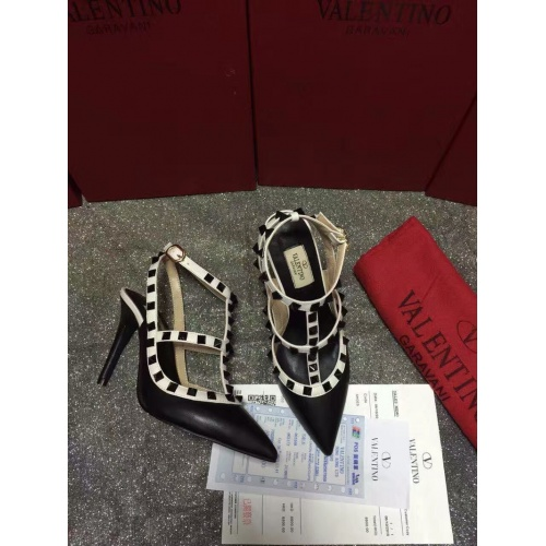 Replica Valentino High-Heeled Shoes For Women #871443 $85.00 USD for Wholesale