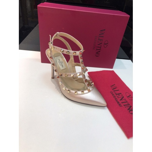 Replica Valentino High-Heeled Shoes For Women #871444 $85.00 USD for Wholesale