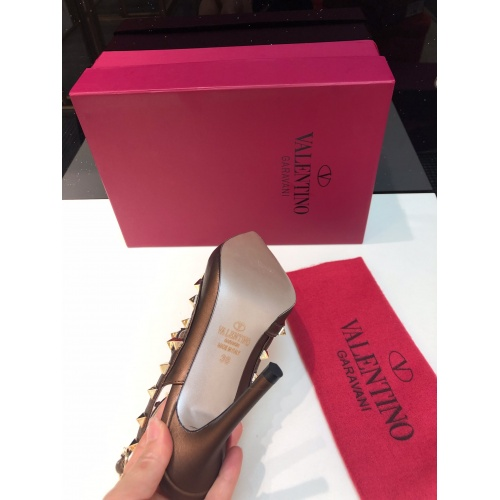 Replica Valentino High-Heeled Shoes For Women #871445 $85.00 USD for Wholesale