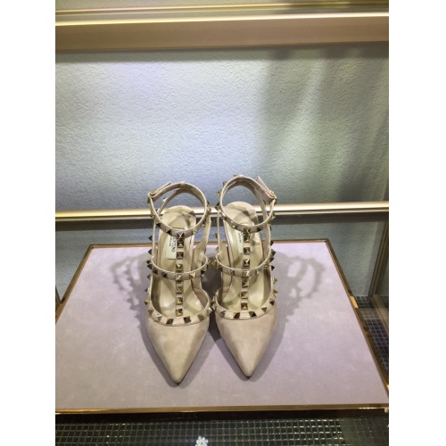 Valentino High-Heeled Shoes For Women #871449 $85.00 USD, Wholesale Replica Valentino High-Heeled Shoes