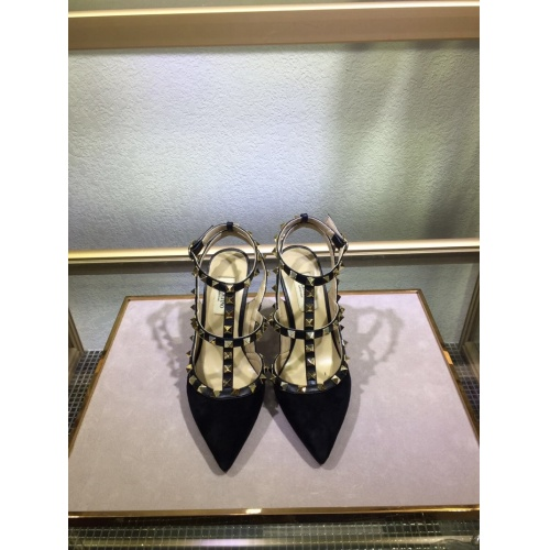 Valentino High-Heeled Shoes For Women #871450 $85.00 USD, Wholesale Replica Valentino High-Heeled Shoes