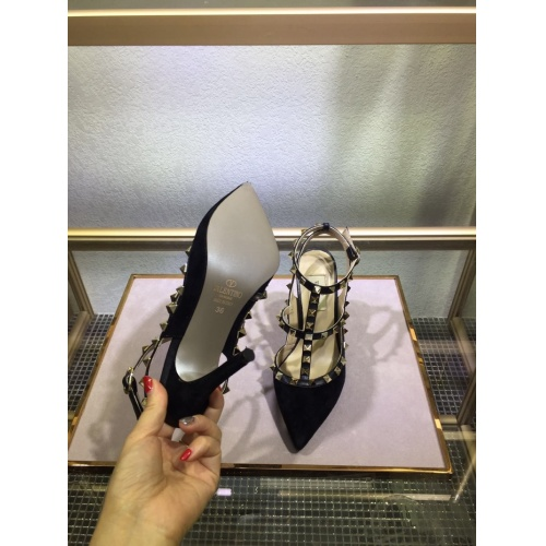 Replica Valentino High-Heeled Shoes For Women #871450 $85.00 USD for Wholesale