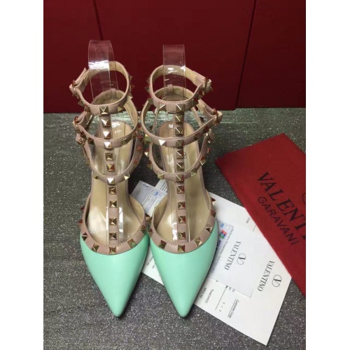 Valentino High-Heeled Shoes For Women #871458 $85.00 USD, Wholesale Replica Valentino High-Heeled Shoes