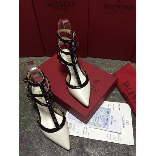 Replica Valentino High-Heeled Shoes For Women #871459 $85.00 USD for Wholesale